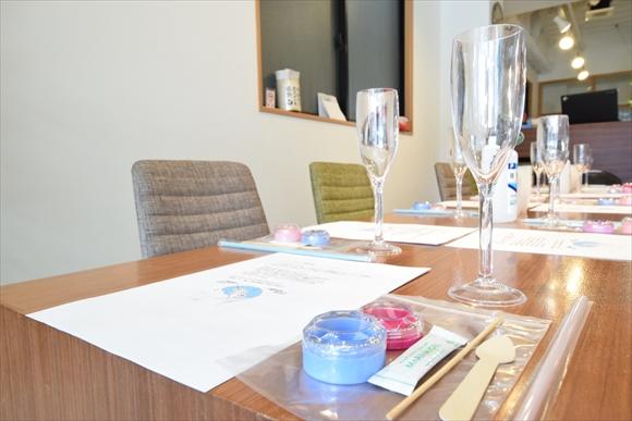 準備後のテーブルの様子。